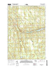 Spirit Falls Wisconsin Current topographic map, 1:24000 scale, 7.5 X 7.5 Minute, Year 2015 from Wisconsin Maps Store