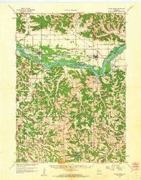 Spring Green Wisconsin Historical topographic map, 1:62500 scale, 15 X 15 Minute, Year 1960