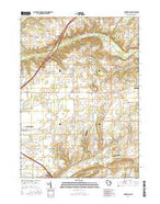 Springfield Wisconsin Current topographic map, 1:24000 scale, 7.5 X 7.5 Minute, Year 2016 from Wisconsin Map Store