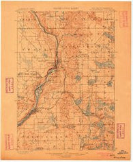 St Croix Dalles Minnesota Historical topographic map, 1:62500 scale, 15 X 15 Minute, Year 1900