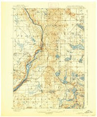 St Croix Dalles Minnesota Historical topographic map, 1:62500 scale, 15 X 15 Minute, Year 1901