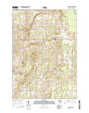 Stangelville Wisconsin Current topographic map, 1:24000 scale, 7.5 X 7.5 Minute, Year 2015 from Wisconsin Maps Store