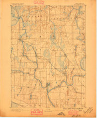 Stoughton Wisconsin Historical topographic map, 1:62500 scale, 15 X 15 Minute, Year 1890