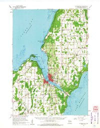 Sturgeon Bay Wisconsin Historical topographic map, 1:62500 scale, 15 X 15 Minute, Year 1960