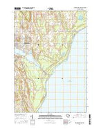 Sturgeon Bay East Wisconsin Current topographic map, 1:24000 scale, 7.5 X 7.5 Minute, Year 2015 from Wisconsin Map Store