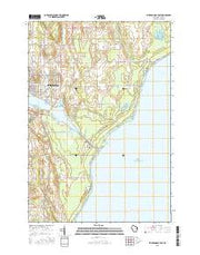 Sturgeon Bay East Wisconsin Current topographic map, 1:24000 scale, 7.5 X 7.5 Minute, Year 2015 from Wisconsin Maps Store