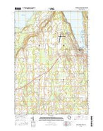 Sturgeon Bay West Wisconsin Current topographic map, 1:24000 scale, 7.5 X 7.5 Minute, Year 2015 from Wisconsin Map Store