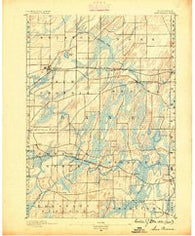 Sun Prairie Wisconsin Historical topographic map, 1:62500 scale, 15 X 15 Minute, Year 1890