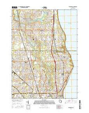 Thiensville Wisconsin Current topographic map, 1:24000 scale, 7.5 X 7.5 Minute, Year 2016 from Wisconsin Maps Store