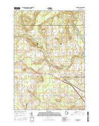 Thornton Wisconsin Current topographic map, 1:24000 scale, 7.5 X 7.5 Minute, Year 2016