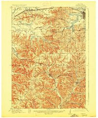 Tomah Wisconsin Historical topographic map, 1:62500 scale, 15 X 15 Minute, Year 1916