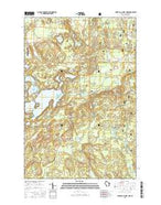 Upper Eau Claire Lake Wisconsin Current topographic map, 1:24000 scale, 7.5 X 7.5 Minute, Year 2015 from Wisconsin Map Store