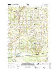 Vesper Wisconsin Current topographic map, 1:24000 scale, 7.5 X 7.5 Minute, Year 2015 from Wisconsin Maps Store
