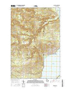 Washburn Wisconsin Current topographic map, 1:24000 scale, 7.5 X 7.5 Minute, Year 2015 from Wisconsin Map Store