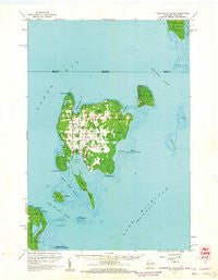 Washington Island Wisconsin Historical topographic map, 1:62500 scale, 15 X 15 Minute, Year 1960