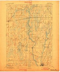 Waterloo Wisconsin Historical topographic map, 1:62500 scale, 15 X 15 Minute, Year 1894