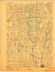 Waterloo Wisconsin Historical topographic map, 1:62500 scale, 15 X 15 Minute, Year 1891