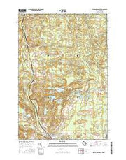Wausaukee North Wisconsin Current topographic map, 1:24000 scale, 7.5 X 7.5 Minute, Year 2016 from Wisconsin Maps Store
