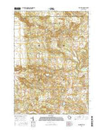 Wautoma NE Wisconsin Current topographic map, 1:24000 scale, 7.5 X 7.5 Minute, Year 2015 from Wisconsin Map Store
