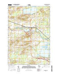 Weyauwega Wisconsin Current topographic map, 1:24000 scale, 7.5 X 7.5 Minute, Year 2016