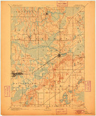 Whitewater Wisconsin Historical topographic map, 1:62500 scale, 15 X 15 Minute, Year 1893