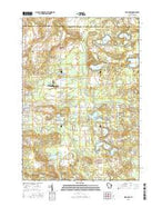 Wild Rose Wisconsin Current topographic map, 1:24000 scale, 7.5 X 7.5 Minute, Year 2015 from Wisconsin Map Store