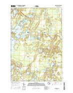 Wilson Lake Wisconsin Current topographic map, 1:24000 scale, 7.5 X 7.5 Minute, Year 2015 from Wisconsin Map Store
