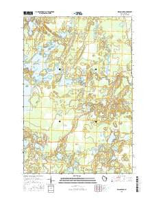 Wilson Lake Wisconsin Current topographic map, 1:24000 scale, 7.5 X 7.5 Minute, Year 2015