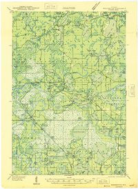 Winchester Wisconsin Historical topographic map, 1:48000 scale, 15 X 15 Minute, Year 1946