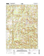 Wittenberg Wisconsin Current topographic map, 1:24000 scale, 7.5 X 7.5 Minute, Year 2015 from Wisconsin Map Store