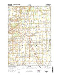 Zachow Wisconsin Current topographic map, 1:24000 scale, 7.5 X 7.5 Minute, Year 2016