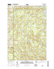 Zoar Wisconsin Current topographic map, 1:24000 scale, 7.5 X 7.5 Minute, Year 2015 from Wisconsin Maps Store