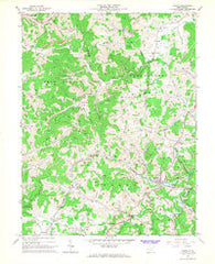 Adrian West Virginia Historical topographic map, 1:24000 scale, 7.5 X 7.5 Minute, Year 1966