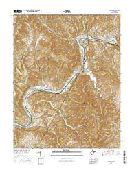 Alderson West Virginia Current topographic map, 1:24000 scale, 7.5 X 7.5 Minute, Year 2016