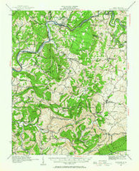 Alderson West Virginia Historical topographic map, 1:62500 scale, 15 X 15 Minute, Year 1921