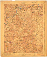 Alderson West Virginia Historical topographic map, 1:62500 scale, 15 X 15 Minute, Year 1923