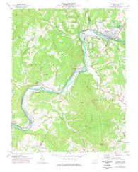 Alderson West Virginia Historical topographic map, 1:24000 scale, 7.5 X 7.5 Minute, Year 1971