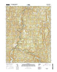 Alton West Virginia Current topographic map, 1:24000 scale, 7.5 X 7.5 Minute, Year 2016