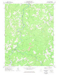 Alton West Virginia Historical topographic map, 1:24000 scale, 7.5 X 7.5 Minute, Year 1977