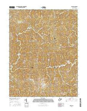 Arlee West Virginia Current topographic map, 1:24000 scale, 7.5 X 7.5 Minute, Year 2016 from West Virginia Maps Store