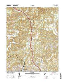 Athens West Virginia Current topographic map, 1:24000 scale, 7.5 X 7.5 Minute, Year 2016