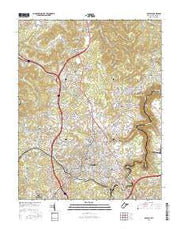 Beckley West Virginia Current topographic map, 1:24000 scale, 7.5 X 7.5 Minute, Year 2016 from West Virginia Maps Store
