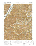 Bens Run West Virginia Current topographic map, 1:24000 scale, 7.5 X 7.5 Minute, Year 2016 from West Virginia Map Store
