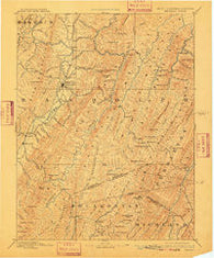 Beverly West Virginia Historical topographic map, 1:125000 scale, 30 X 30 Minute, Year 1892