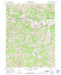 Blacksville West Virginia Historical topographic map, 1:24000 scale, 7.5 X 7.5 Minute, Year 1958