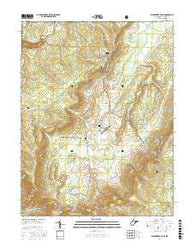 Blackwater Falls West Virginia Current topographic map, 1:24000 scale, 7.5 X 7.5 Minute, Year 2016