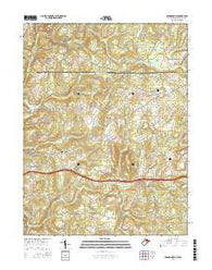 Brandonville West Virginia Current topographic map, 1:24000 scale, 7.5 X 7.5 Minute, Year 2016