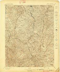 Buckhannon West Virginia Historical topographic map, 1:125000 scale, 30 X 30 Minute, Year 1897