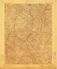Buckhannon West Virginia Historical topographic map, 1:125000 scale, 30 X 30 Minute, Year 1896