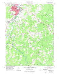 Buckhannon West Virginia Historical topographic map, 1:24000 scale, 7.5 X 7.5 Minute, Year 1977